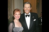 Actor Jerry Orbach and his wife Elaine attend the cocktail party.