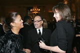 CNN's Prudence Solomon and her husband hotel tycoon Jerry Inzerillo talk with Tribeca Film Festival Co-Founder Jane Rosenthal.