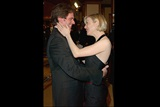 """Chicago"" director Rob Marshall gets a warm greeting from his cast member Zellweger."