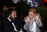 Peter Jackson and Cate Blanchett at the Lord of the Rings table.