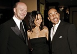 "Feature Film Nominee Paul Haggis with two of his ""Crash"" cast members, Thandie Newton and Chris 'Ludacris' Bridges."