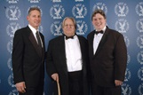 DGA Sixth Vice-President Gary Donatelli, 2006 DGA Lifetime Sports Award Recipient Joseph R. Aceti and Eastern AD/SM/PA Council Chair Dennis W. Mazzocco.