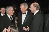 DGA Lifetime Achievement Award recipients Steven Spielberg and Clint Eastwood and feature Film nominee Paul Haggis.