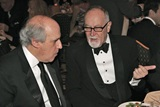 MPAA Chief Dan Glickman confers with DGA Secretary Treasurer Gilbert Cates.