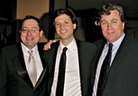 Sony Pictures Classics co-presidents Michael Barker and Tom Bernard with feature film nominee Bennett Miller (center).