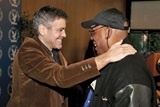 Feature Film Nominee Clooney greets DGA First Vice President/Dramatic Series Night Nominee Paris Barclay.