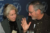 DGA Fifth Vice President Betty Thomas chats with Nominee Steven Spielberg.