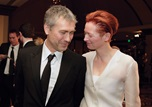 Feature film nominee Tony Gilroy with his Michael Clayton star Tilda Swinton