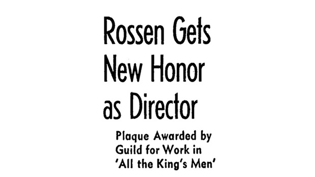 robert rossen - all the kings men