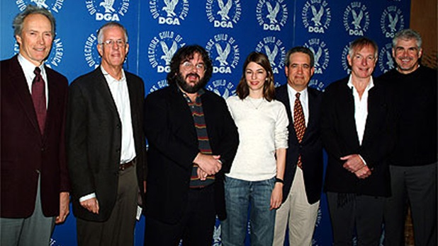 Nominee Eastwood, DGA President Apted, nominees Jackson and Coppola,
