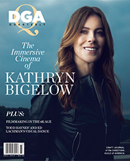 DGA Quarterly Magazine Fall 2017 Cover Kathryn Bigelow