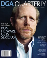 DGA Quarterly Magazine Fall 2009 Ron Howard