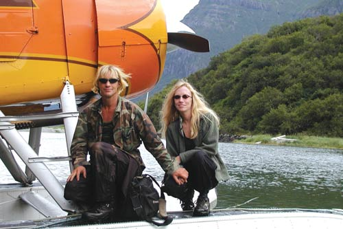 Grizzly Man: Timothy Treadwell and Amie Huguenard become the subjects of Herzog's documentary. -